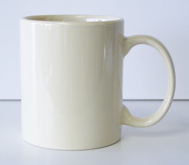 11 oz. Almond Ceramic Coffe Mug