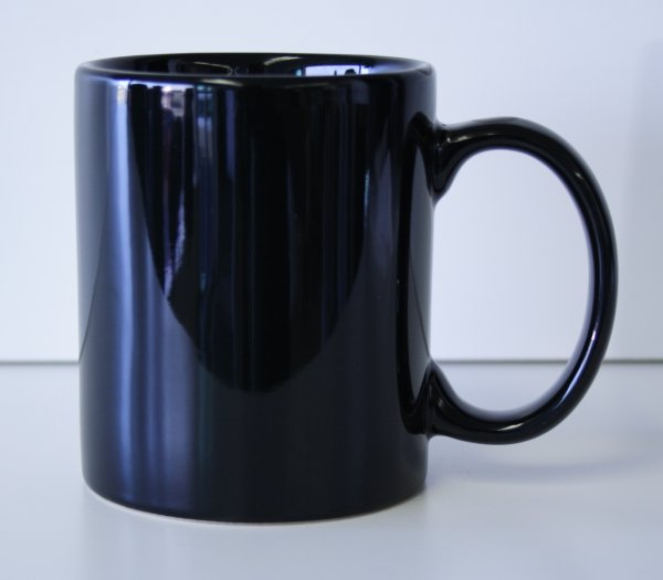 11 oz. Black Ceramic Coffe Mug