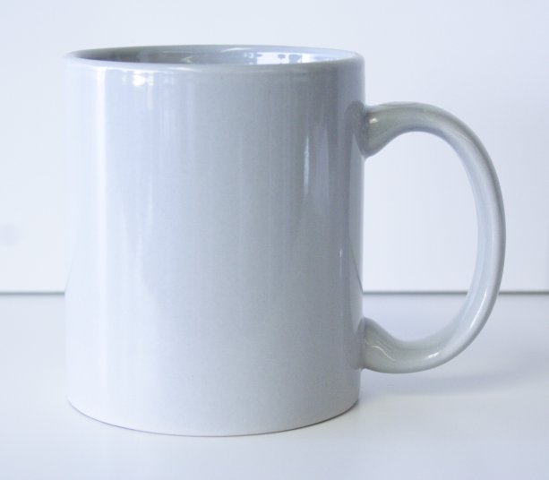 11 oz. Gray Ceramic Coffe Mug