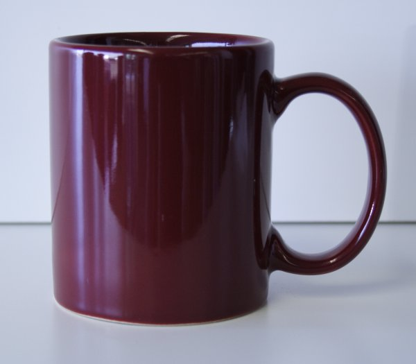 11 oz. Maroon Ceramic Coffe Mug