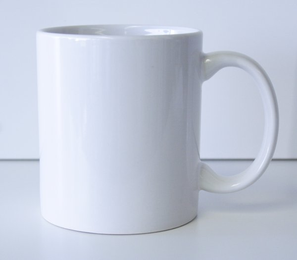 11 oz. White Ceramic Coffe Mug