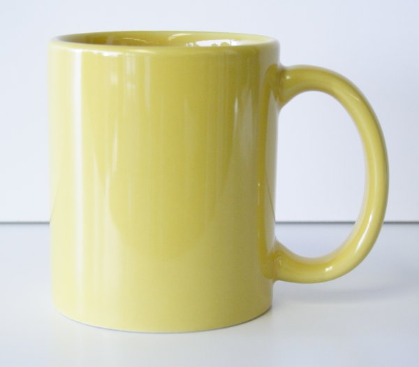11 oz. Yellow Ceramic Coffe Mug