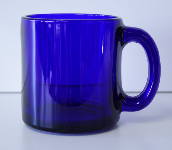 13 oz. Cobalt Blue Glass Coffee Mug