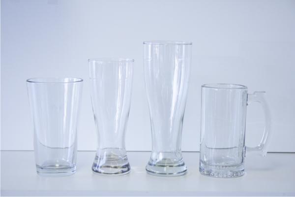 Beer Glasses- 16 oz. Pub Glass, 12 oz. Pilsner, 16 oz. Pilsner, 13 oz. Stein