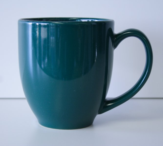 15 oz Dark Green Bistro Mug