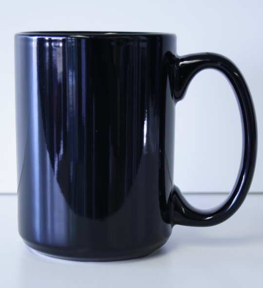 15 oz. Black El Grande Ceramic Coffe Mug