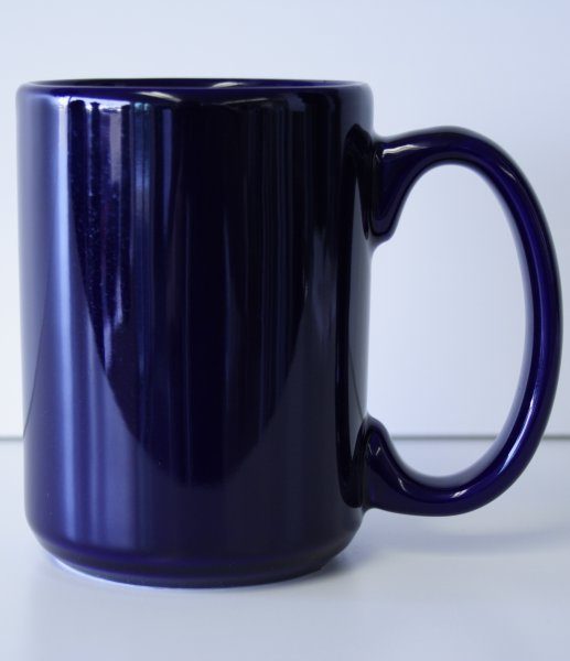 15 oz. Cobalt Blue El Grande Ceramic Coffe Mug