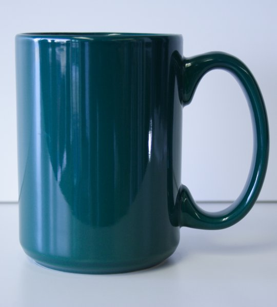 15 oz. Dark Green El Grande Ceramic Coffe Mug